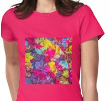 Coloured Leaves Womens Fitted T-Shirt