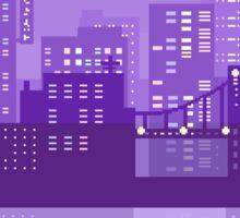 pixel city Sticker