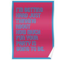 Hard Party - funny greeting cards Poster
