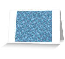 Blue on Violet pattern Greeting Card