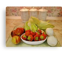 More Fruit & Veg : Healthier Eating Canvas Print