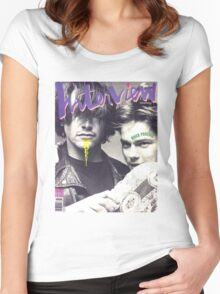 River Phoenix and Keanu Reeves (Interview Magazine) Women's Fitted Scoop T-Shirt