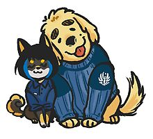 Mako and Raleigh doge by gataro