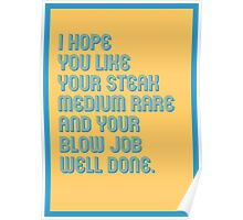 Blow Job Well Done - funny greeting cards Poster