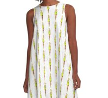 Sparkly Green Tinker Fairy A-Line Dress