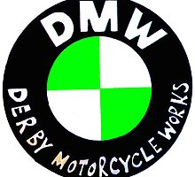 Derby Motorcycle Works Logo by John Menezies