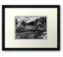 Misty - Border Framed Print