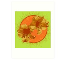 Bright Orange Flower Art Print