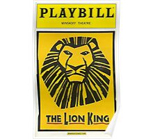 The Lion King Playbill Poster
