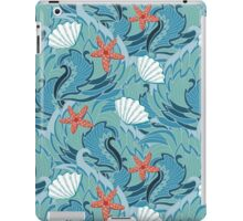 sea ​​pattern with shells and starfish iPad Case/Skin