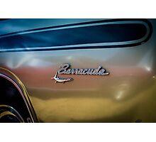 Classic Dodge Barracuda emblem Photographic Print
