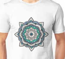 Blue, Green and Silver Mandala Unisex T-Shirt