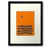 Singing Clockwork Framed Print