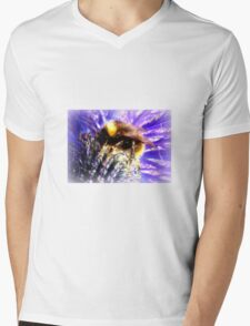 Bumblebee on Thistle Mens V-Neck T-Shirt