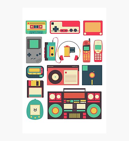 Retro Technology Photographic Print