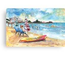 Mazarron Beach 03 Canvas Print