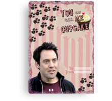My Teenwolfed Valentine [You Can Call Me Cupcake] Canvas Print