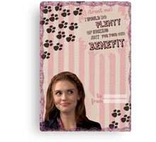 My Teenwolfed Valentine [I Would Do Plenty of Sucking Just For Your Benefit] Canvas Print
