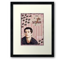 My Teenwolfed Valentine [I Will Be Your Batman] Framed Print