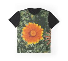Posterized Fire Flower Graphic T-Shirt