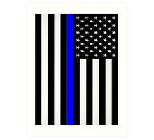 Police Flag Art Print