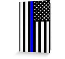Police Flag Greeting Card