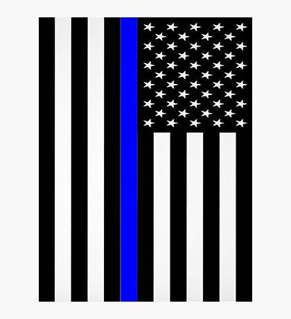 Police Flag Photographic Print