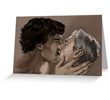 johnlock kiss Greeting Card