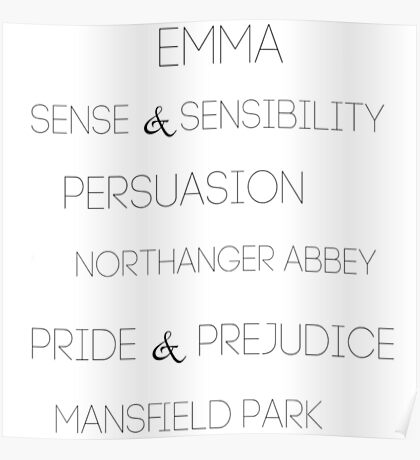 The Novels of Jane Austen Poster