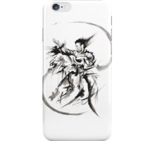 Aikido Martial Arts Large Poster Samurai Warrior Black and White iPhone Case/Skin