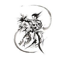 Aikido Martial Arts Large Poster Samurai Warrior Black and White Photographic Print