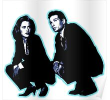 Awesome Dana Scully Fox Mulder - Stencil - THE X FILES - Street art Graffiti Popart Andy warhol Poster