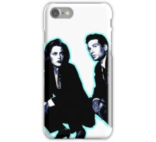 Awesome Dana Scully Fox Mulder - Stencil - THE X FILES - Street art Graffiti Popart Andy warhol iPhone Case/Skin