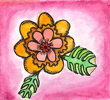 Watercolor Wildflower 1 by Kellee Carr