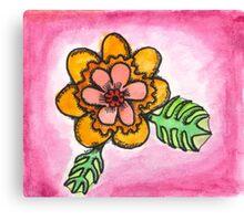 Watercolor Wildflower 1 Canvas Print