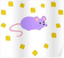 Cute Pastel Mousey Kawaii Poster