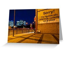 Attribution - London Lights Greeting Card