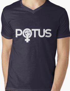 Woman POTUS Feminist Mens V-Neck T-Shirt