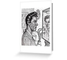 The Alien In The Mirror Greeting Card
