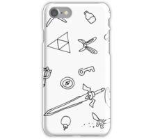 It's Dangerous to Go Alone Ink Pattern iPhone Case/Skin