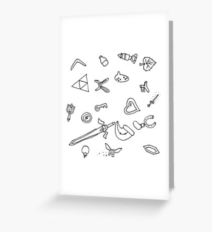 It's Dangerous to Go Alone Ink Pattern Greeting Card
