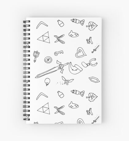 It's Dangerous to Go Alone Ink Pattern Spiral Notebook