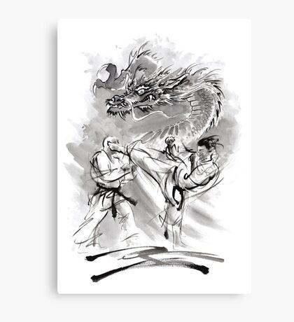 Karate kyokushinkai whit dragon poster Canvas Print