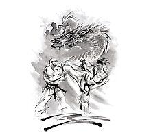 Karate kyokushinkai whit dragon poster Photographic Print