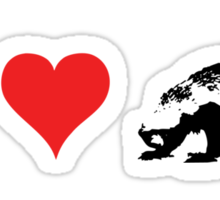 I Love Honey Badger (small) Sticker