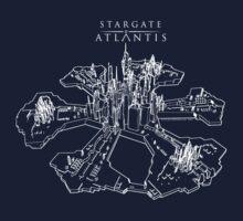Stargate Atlantis City (White) by Paul Elder