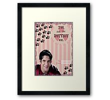 My Teenwolfed Valentine[You Are The Hottest Girl] Framed Print