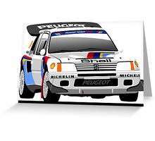 Peugeot 205 T16 Group B Greeting Card