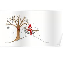 Snow Time For Gathering Snowflakes Like Christmas Poster