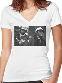 Mos Def and Talib Kweli Women's Fitted V-Neck T-Shirt